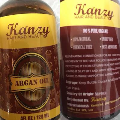 aceite puro de argan, kanzy,