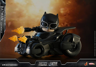 Justice League Movie Batman & Batmobile Cosbaby Collectible Set by Hot Toys