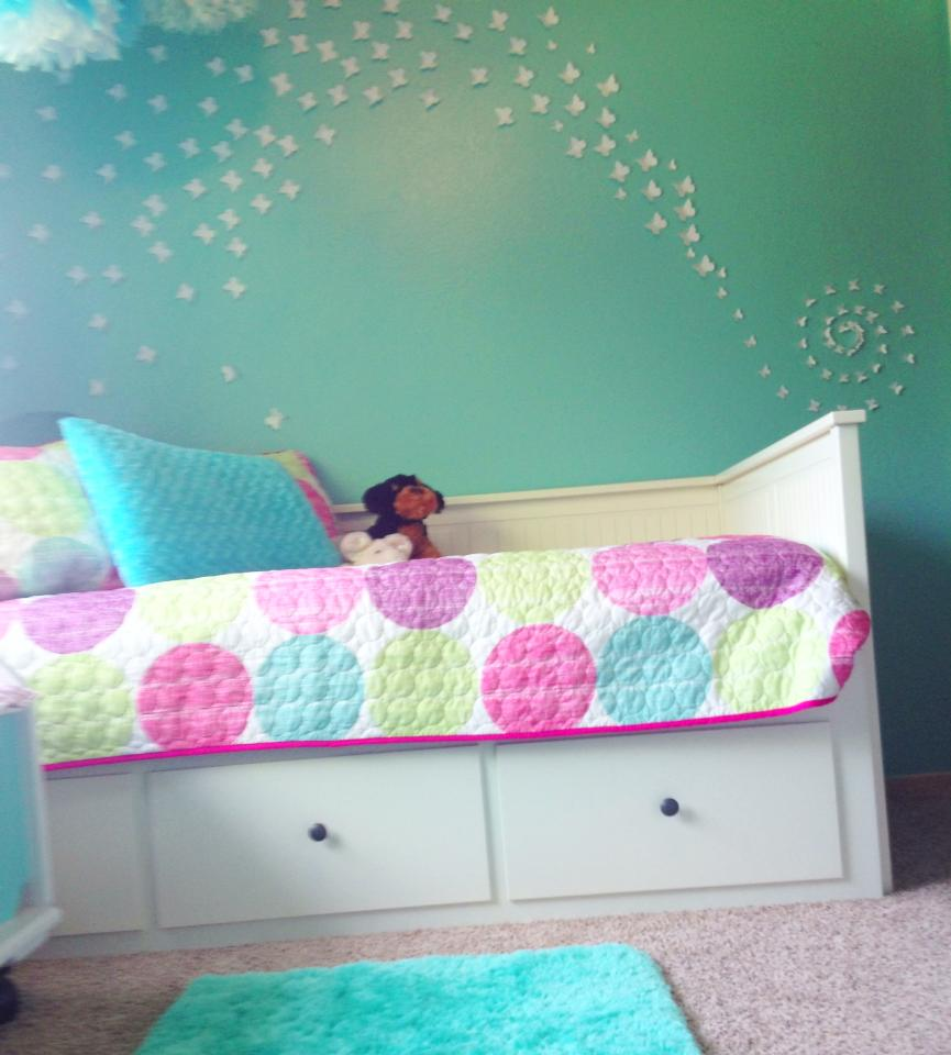 Designs By Jeannine: Girls Turqoise And White Butterfly Room