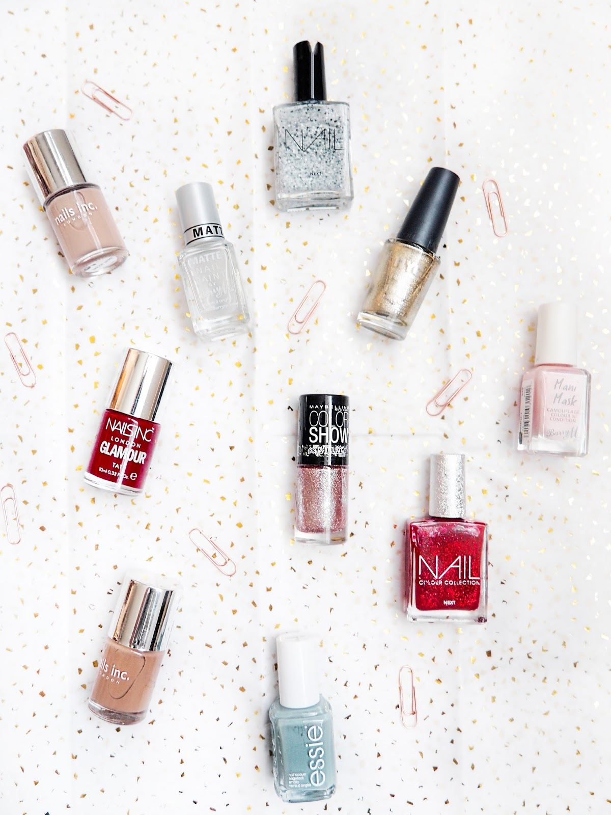 Winter Manicure Menu Nail Polish