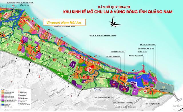 Vị trí dự án Vinpearl Nam Hội An