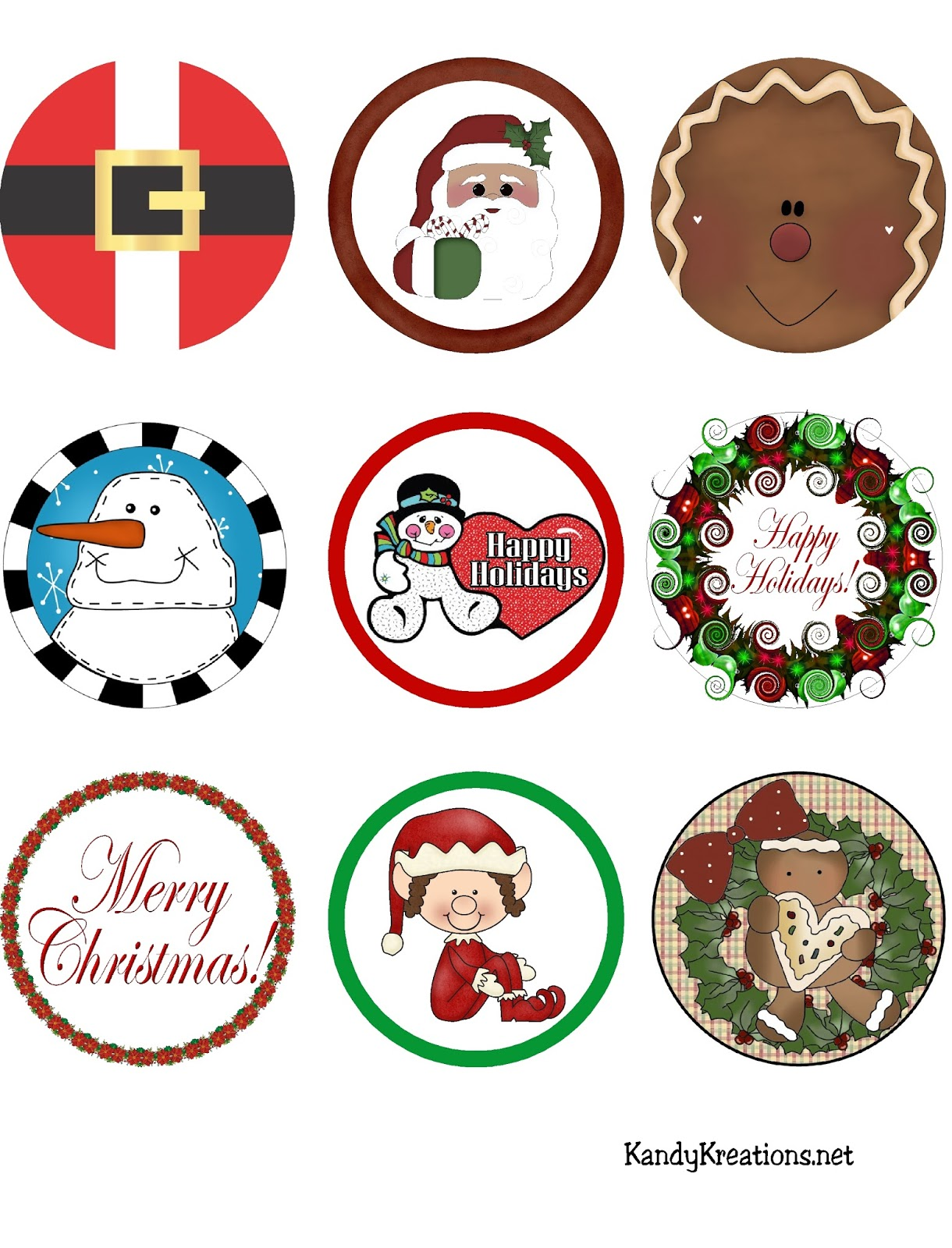 Free Printable Christmas Sticker Labels