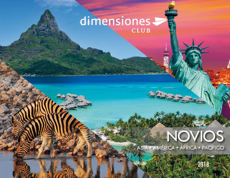 Catálogo Dimensionesclub Viajes de novios Europa, África, Asia, América 2018-19