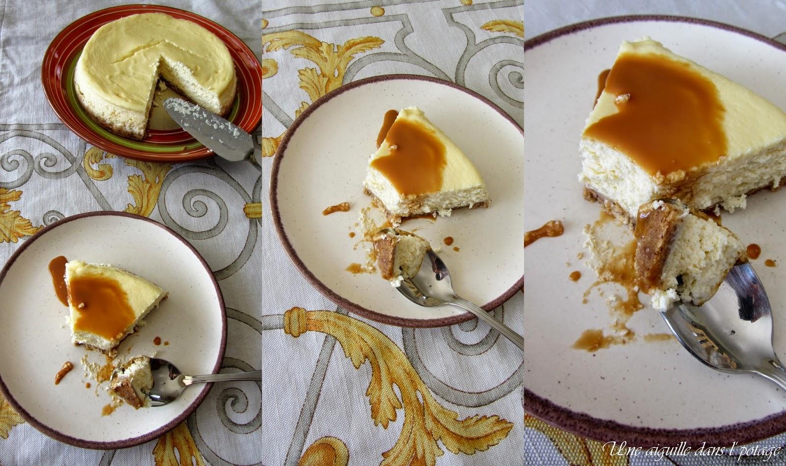 une aiguille dans l' potage: Cheesecake en version allégée