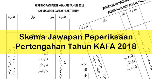 Skema Jawapan Peperiksaan Pertengahan Tahun KAFA 2018