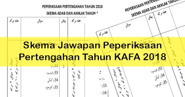 Skema Jawapan Peperiksaan Pertengahan Tahun Kafa 2018 Persatuan Guru Guru Sar Kafa Daerah Kuantan