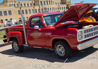 1979 Dodge D150 Lil Red Express Front ANgle