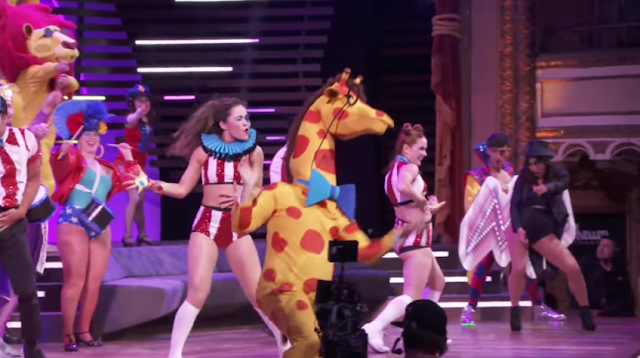 Don't stop me now having a good time Ubisoft E3 2016 human giraffe Just Dance 2017 Orlando tribute