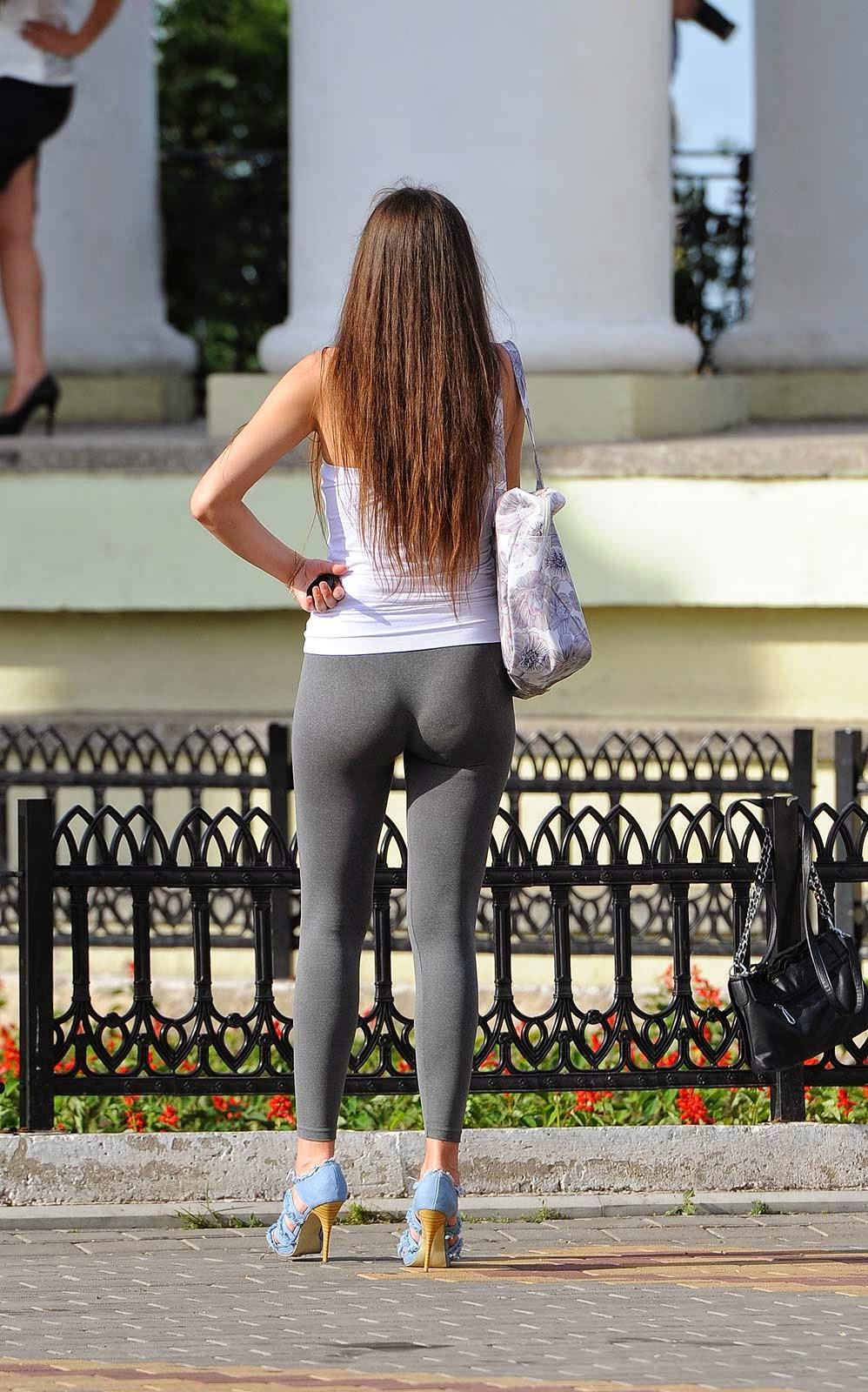Sexy leggings ass