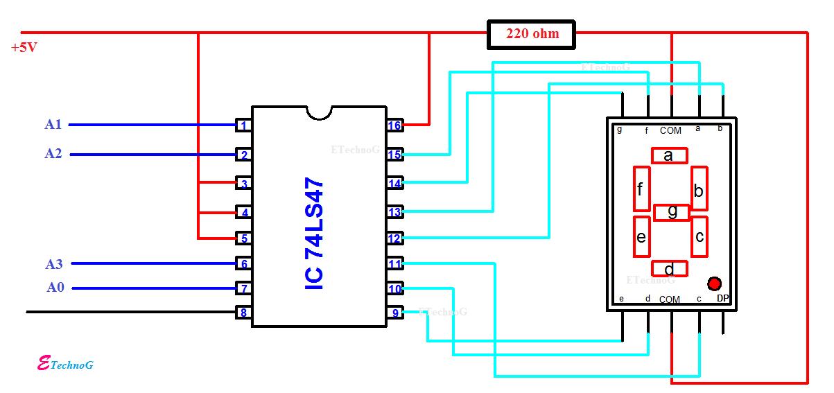 [SODI_2457]   BCD to Seven Segment Display Decoder Circuit using IC 7447 - ETechnoG | 7 Segment Decoder Logic Diagram |  | ETechnoG