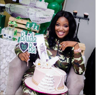 Check out beautiful photos of a 'Camo themed' bridal shower of a Nigerian lady