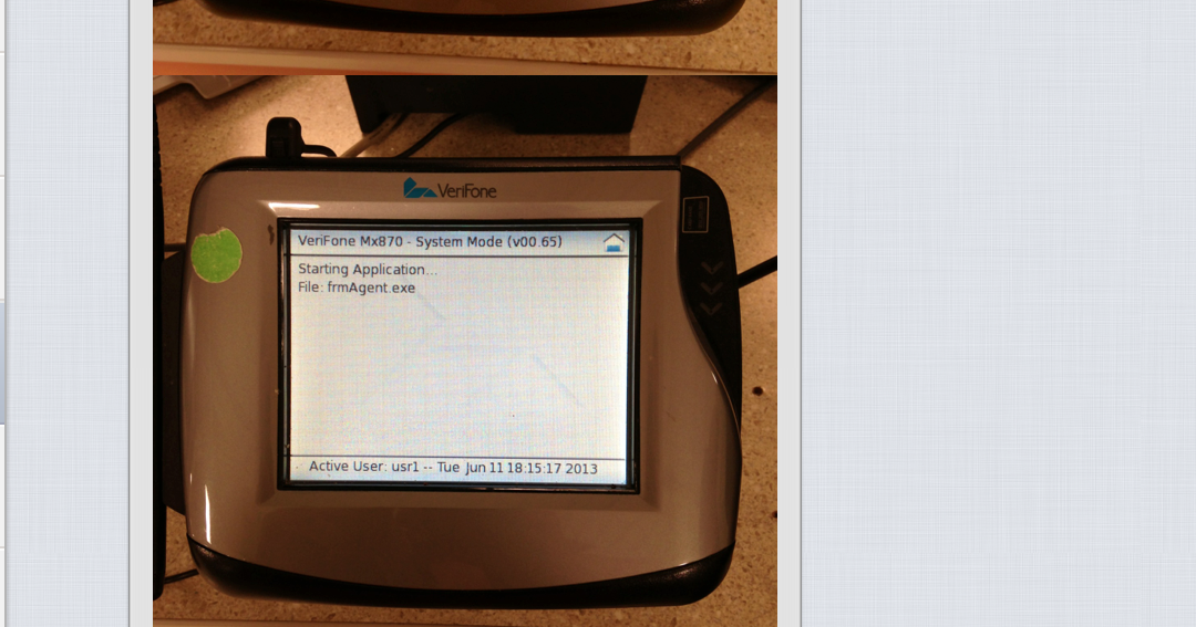 Crashpad 1 0: Verifone Mx870