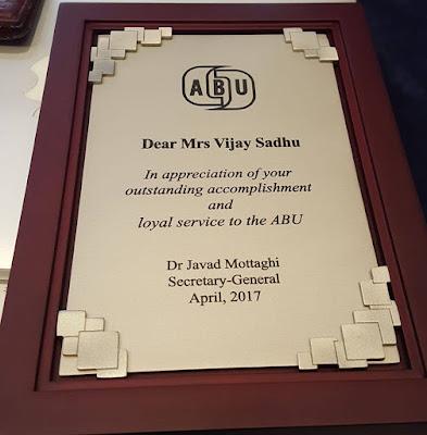 Ms Vijayaji Sadhu, Director Radio Programming in ABU retires