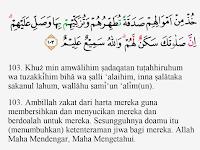 Tajwid Surat At Taubah Ayat 103