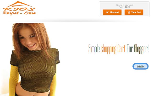 Kiosk - Blogger Shopping Store Enabled Template