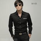 jas exclusive kemerja hitam sk 63