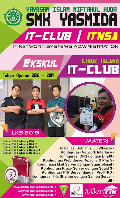 Design Banner Stiker Esku IT-Club SMK Yasmida