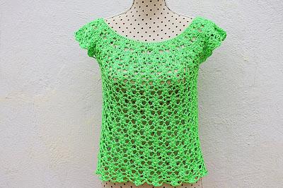 3 - Crochet Imagen Blusa de mujer a crochet muy rapido y facil de hacer a ganchillo. Majovel Crochet.