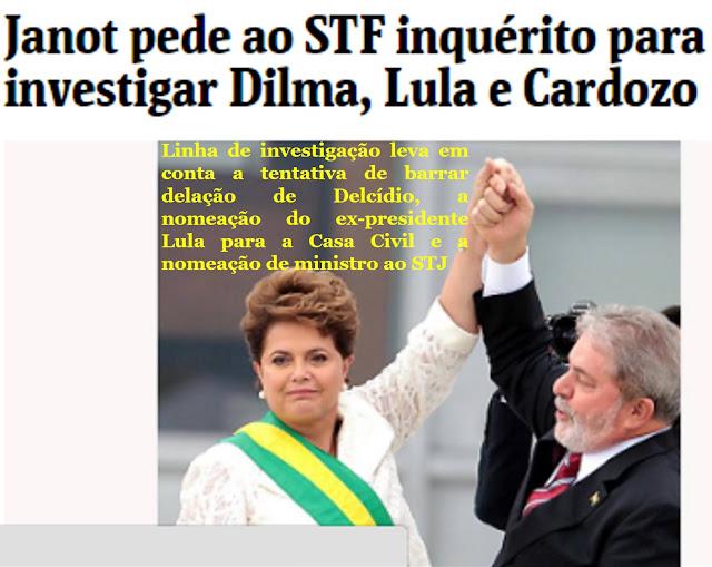 LULA E DILMA DESONRARAM OS BRASILEIROS CAPITANEANDO UMA QUADRILHA QUE RAPINOU A NAÇÃO.