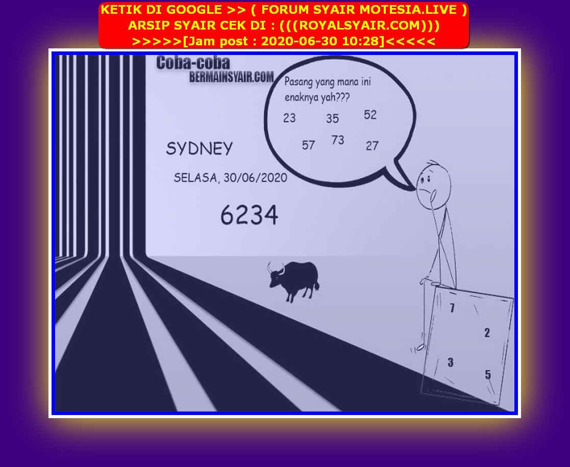 Kode syair Sydney Selasa 30 Juni 2020 214