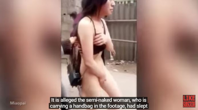 A Man Forced This Woman To Walk Naked Around Streets After Caught Sleeping With Someone's Husband!