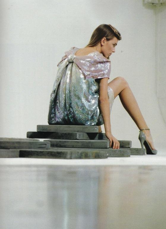 bcb9317d8 Jil Sander Spring 2007 Rainbow Metallic Sequin Dresses and Skirts ...