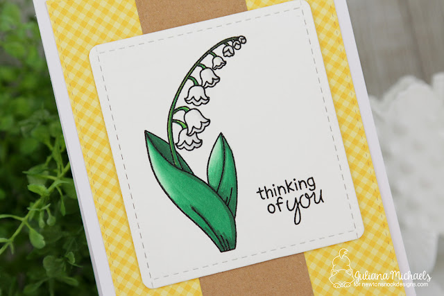 Thinking of You Card by Juliana Michaels featuring Little Lilies Stamp Set