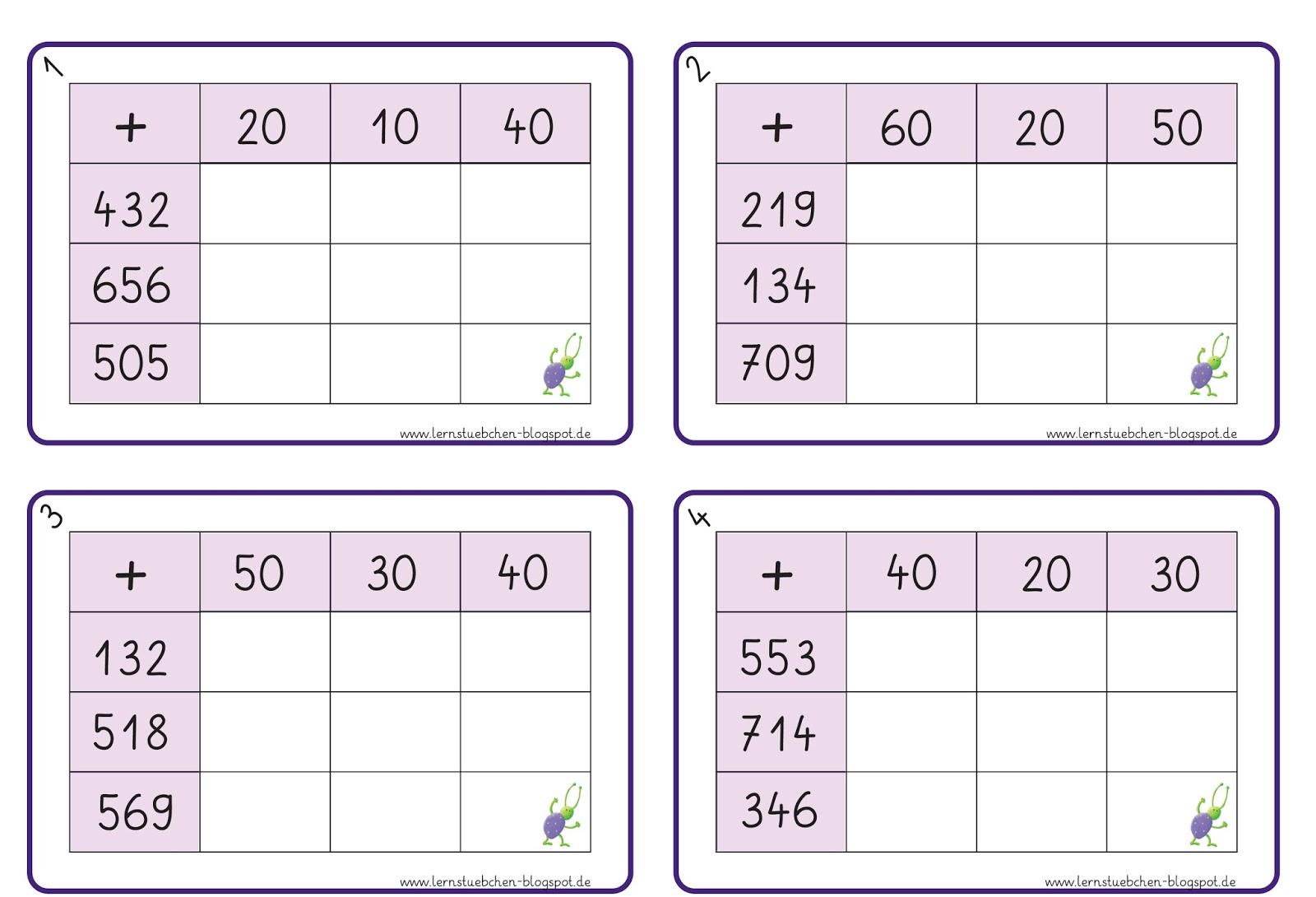 Tolle Subtraktion Einer Tabelle 2Klasse Zeitgenössisch - Super ...