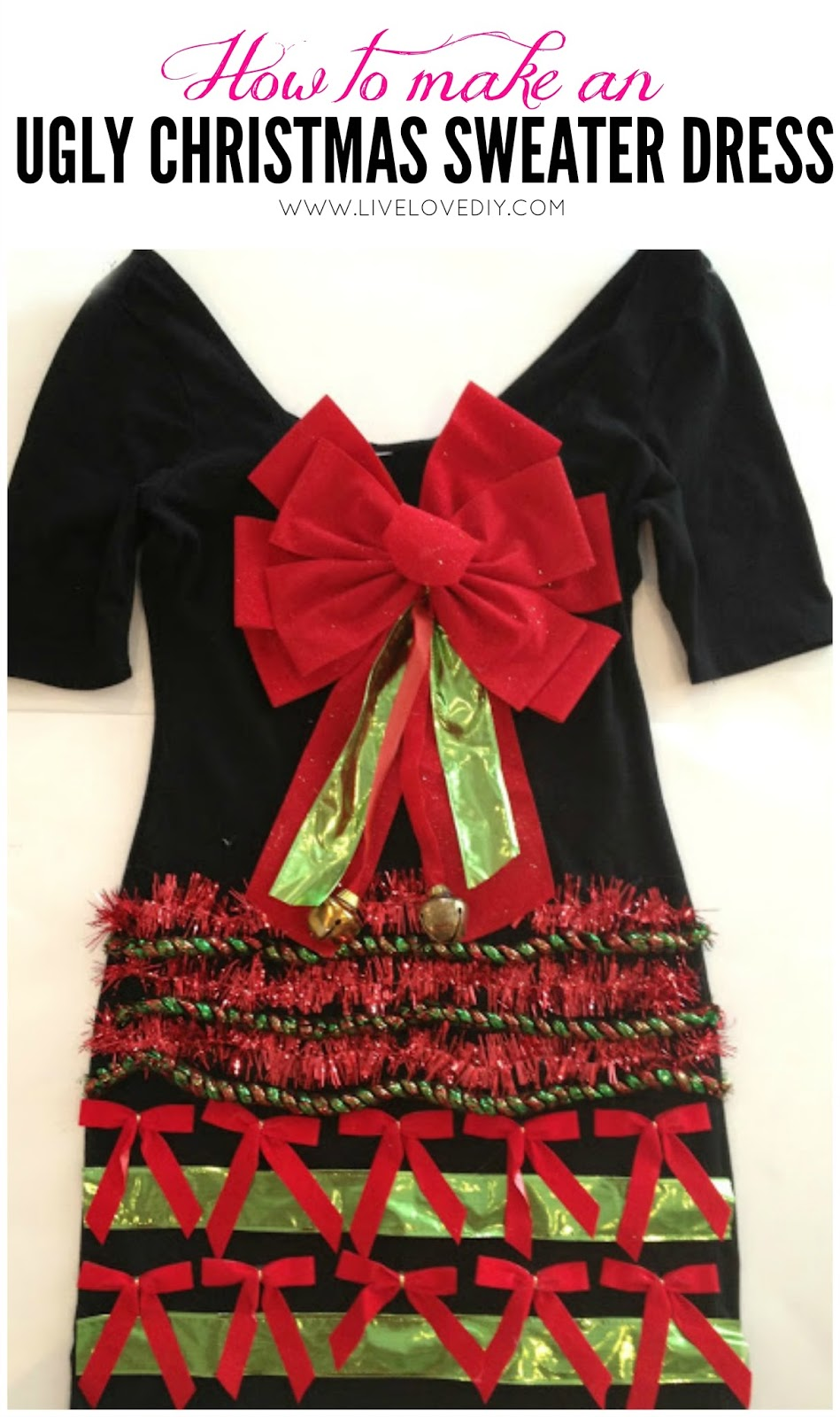 94cd87c05ab LiveLoveDIY  How To Make An Ugly Christmas Sweater Dress