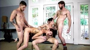 Allen King, Colby Keller, Kody Stewart, Levi Karter, Liam Riley & Tayte Hanson