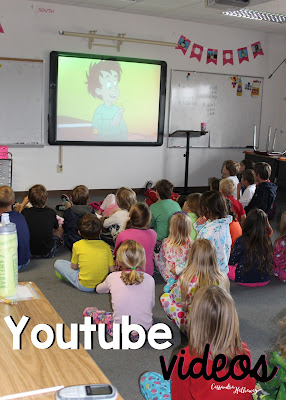 Finding awesome Youtube videos or movies that tie in with your day are a great way to bring classes together and end your crazy busy day with some calm!