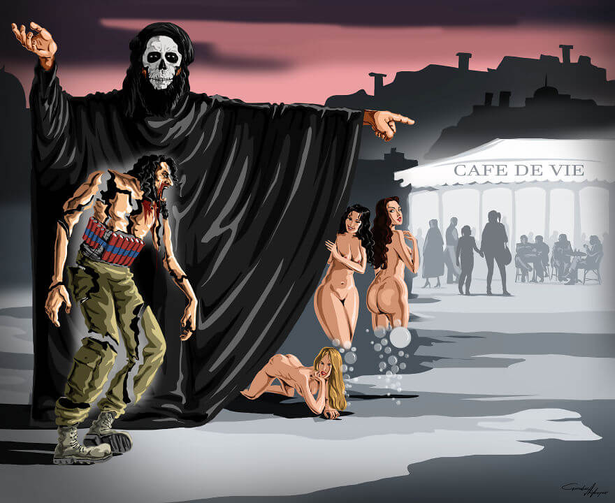13 Powerful Illustrations Reveal Everything That Is Wrong With The World Today - Terror Order