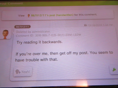 Miiverse hate bullying get off my post leave me alone
