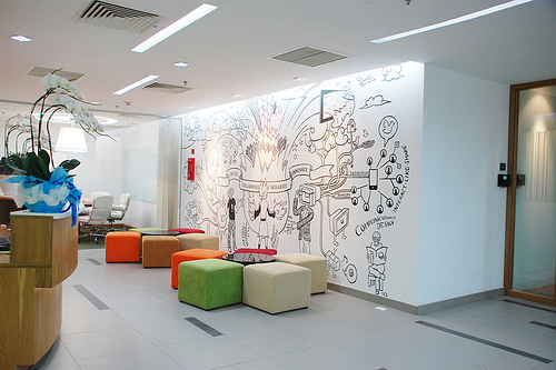 office wall graphic design