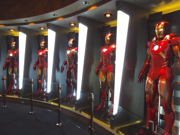 Iron Man 3 Hall of Armors exhibit
