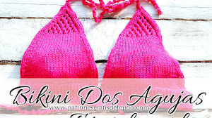 Bikini tejida con dos agujas / Tutorial