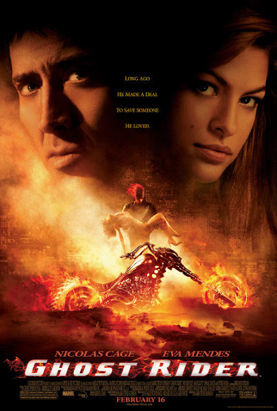 Poster Of Ghost Rider 2007 ExTended 720p BRRip Dual Audio Full Movie Download