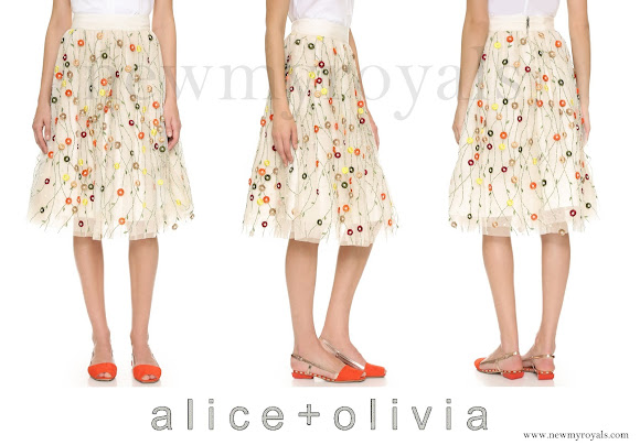 Princess Madeleine wears Alice and Olivia Catrina Embellished Skirt