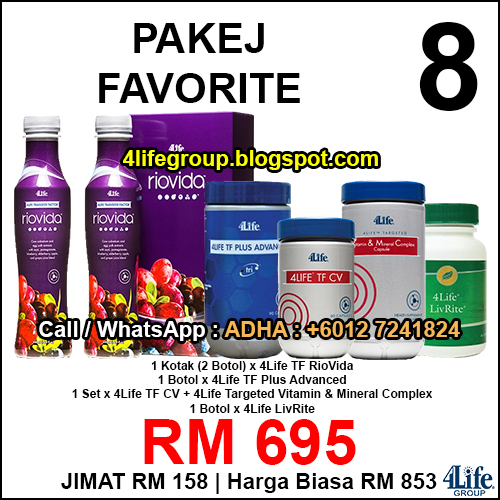 foto Pakej Favorite 8 - 4Life Malaysia
