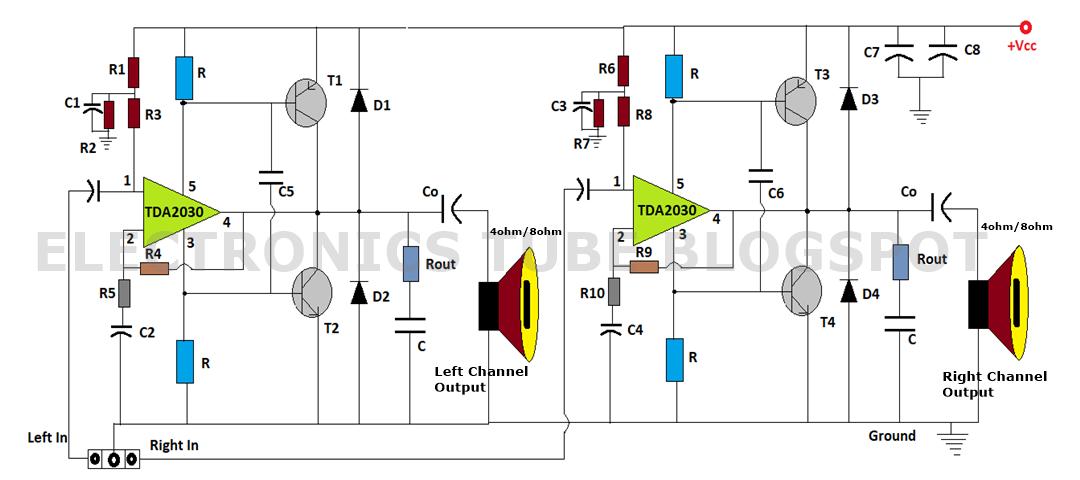50+50 Watt Hi-Fi Power Amplifier Circuit with PCB Assembly Single Supply