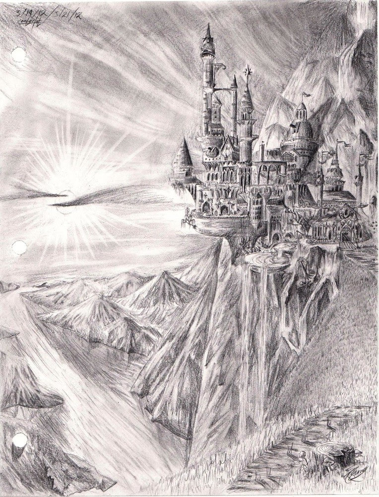 09-Canterlot-Josh-Sung-Strong-Pencil-Fantasy-Drawings-www-designstack-co