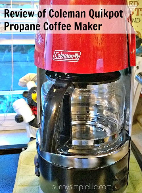 camping supplies, coffee maker, emergency preps