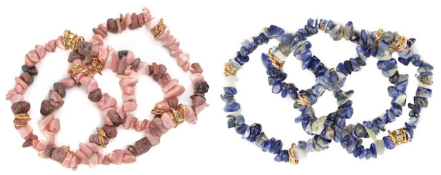 Shale Bracelet $7 (reg $40) in Rhodonite or Sodalite