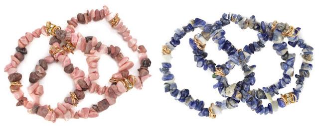 Shale Bracelet $7 (reg $40) in Rhodonite or Sodalite