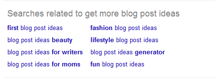 4 Tactics To Find Great Content Ideas For Your Blog - google search suggestions