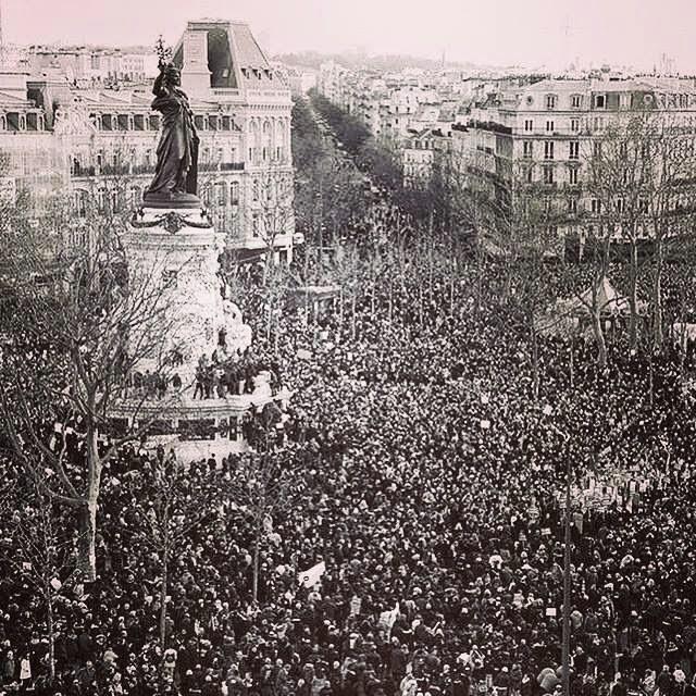 place de la liberté Paris le 11 janvier 2015 Keren Ann Liberty