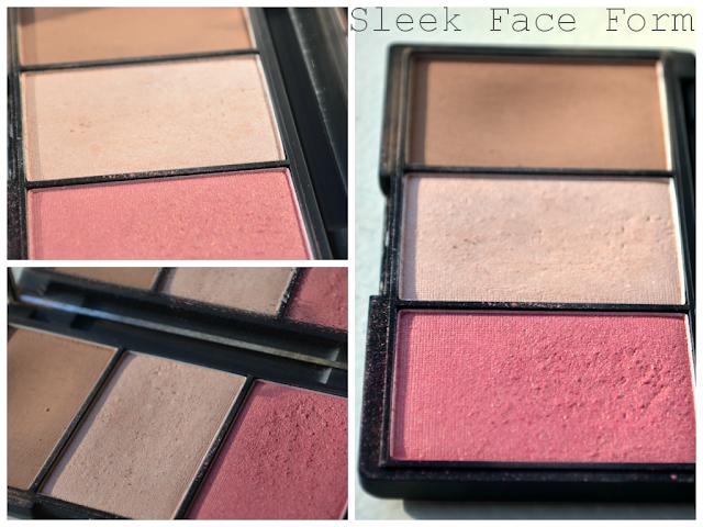 Sleek Face form - sleek palette - contour kit - light - highlight - contour - blush - review - swatch