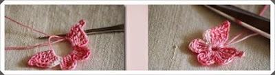 Tığ işi Örgü Kelebek Lastikli Model Yapımı, Resimli Açıklamalı 3