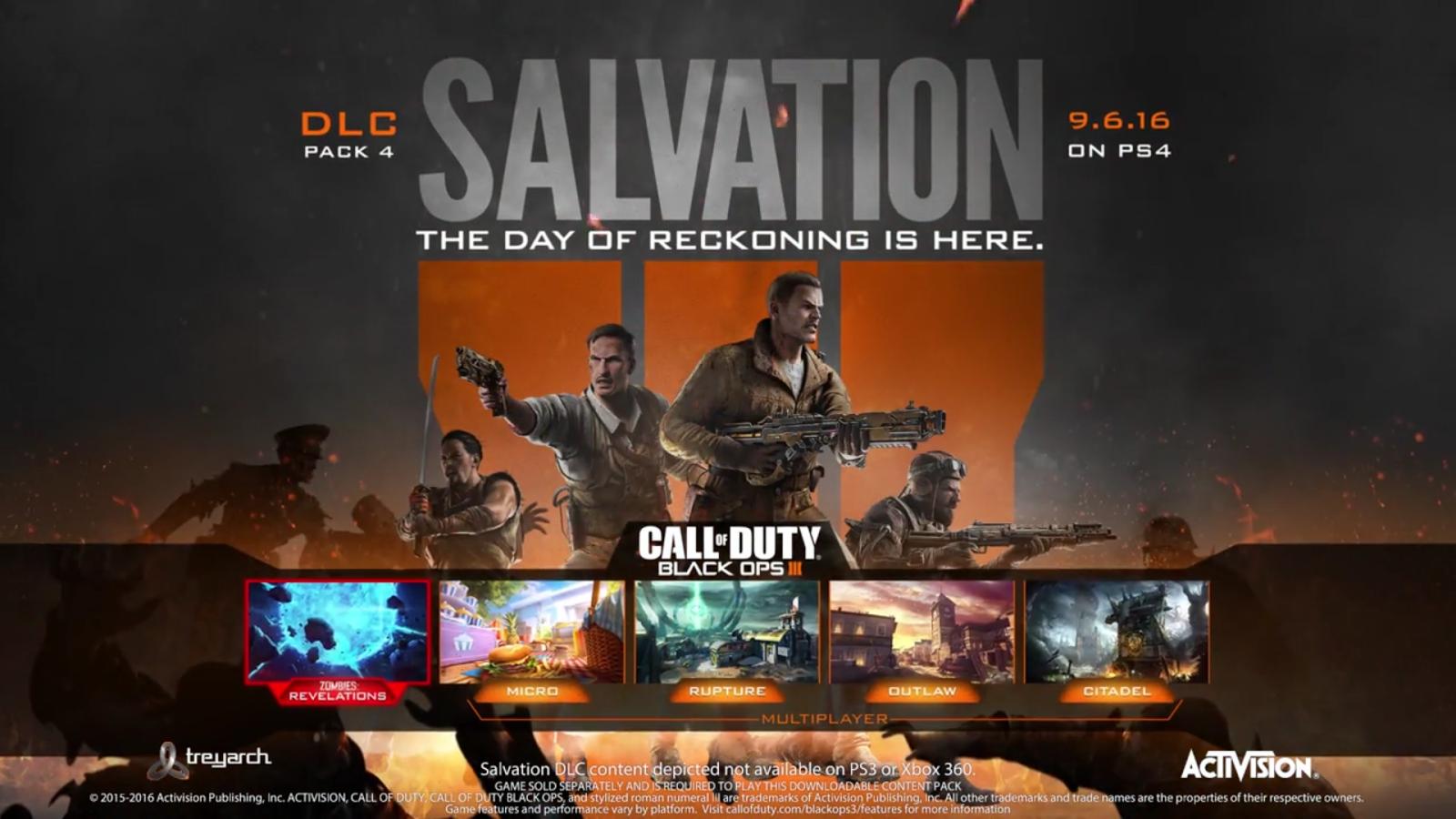 Black Ops 3 Salvation DLC Pack 4 Multiplayer Maps Description and ...