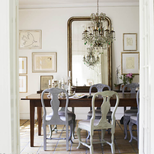 Mirror In Dining Room: ...joy Of Nesting: DECORATING WITH ANTIQUE MIRRORS